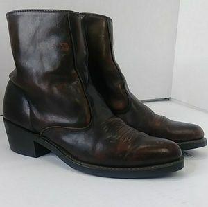 Laredo Boots Men's 8D Side Zip Casual Brown